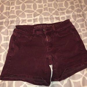 Burgundy shorts!